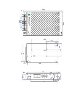 POS modular power supply POS-150-12 150W 12.5A -