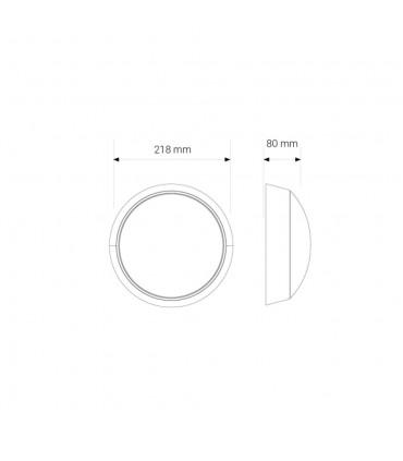 MAX-LED round bulkhead wall light 14W neutral white - size
