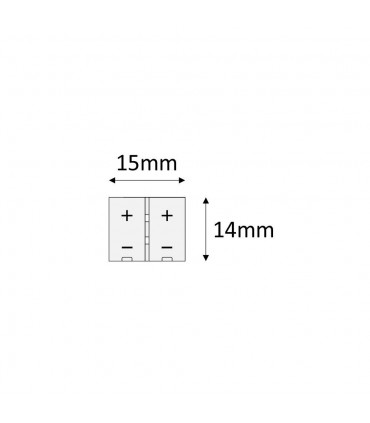 10mm single colour I type clip connector -