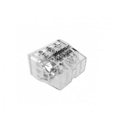 WAGO 2273-208 8-way push wire connector 24A.COMPACT PUSH WIRE® connector for junction boxes; 8-conductor terminal block