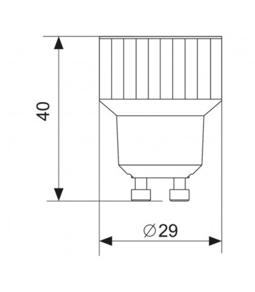 MAX-LED GU10-E14 lamp socket converter - size