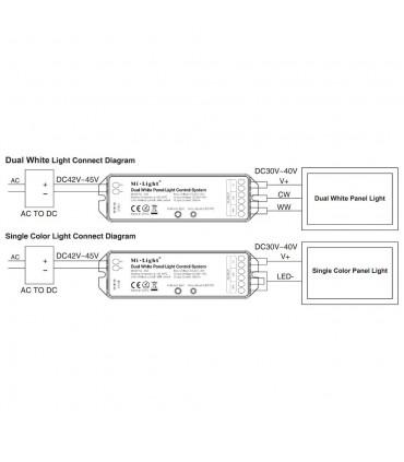 Mi-Light dual white panel light control system LS3 - connection