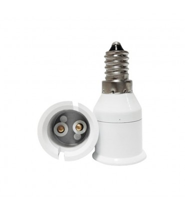 LED line® E14-B22 lamp socket converter. Bulb adapter (adapter) E14 to B22 enables the use of a bulb with a B22 thread (