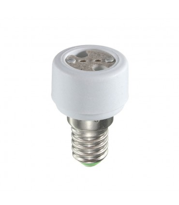 LED line® E14-MR16 lamp socket converter. Bulb adapter (adapter) E14 to MR16 enables the use of a bulb with an MR16 thre