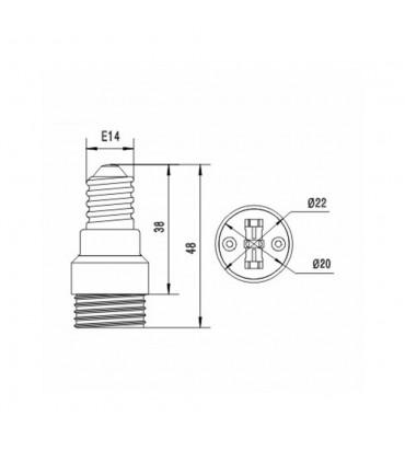 LED line® E14-G9 lamp socket converter - size