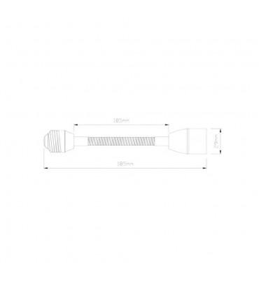 LED line® E27-E14 lamp socket converter flexible extender - size