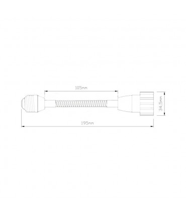 LED line® E27-GU10 lamp socket converter flexible extender. Extension (adapter) E27 to GU10 allows you to move and direc