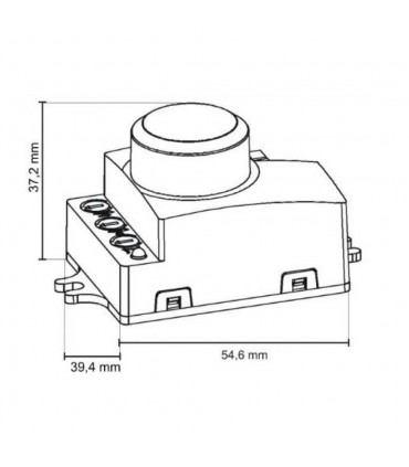 ORNO microwave motion sensor MINI 1200W 360° IP20 OR-CR-216 white - size