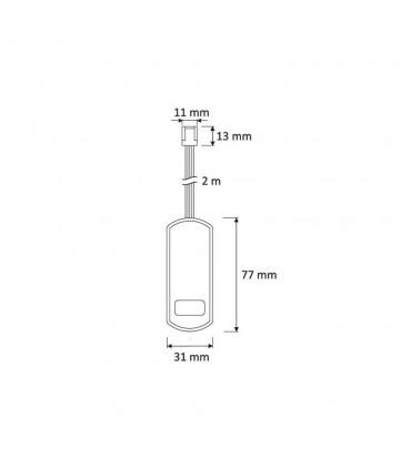 DESIGN LIGHT 2m 9-way RGB mini connector splitter -