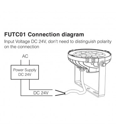 Mi-Light 9W RGB+CCT LED garden light FUTC01 - connection
