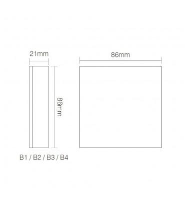 Mi-Light 4-zone CCT adjust smart panel B2 - size