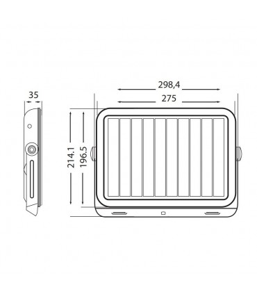 LED line® solar LED floodlight SMD 10W neutral white IP65 - size