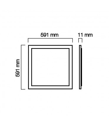 LED line® square frame panel 40W 3200lm SMD 59x59 neutral white - size