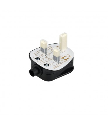 3 pin plug with fuse black 13amp -