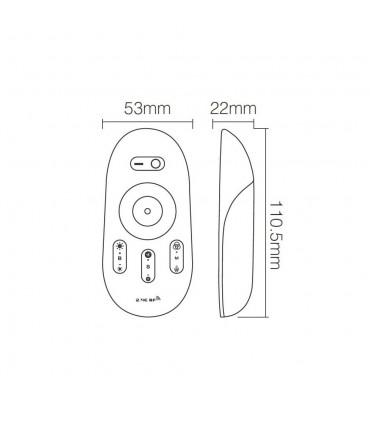 Mi-Light 2.4GHz touch RGB LED strip controller FUT025 - transmitter size
