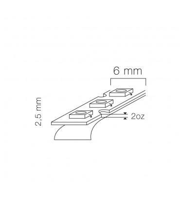 LED line® strip 300 SMD 3528 TWIST 12V neutral white IP20 - size