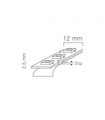 LED line® strip 210 SMD 5060 TWIST 12V RGB IP20 - size