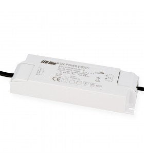 LED line® round downlight panel 40W 60x60 warm white.A large, round LED line® panel with a 595mm diameter power supply