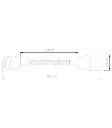 LED line® E27-E27 lamp socket converter flexible extender - size