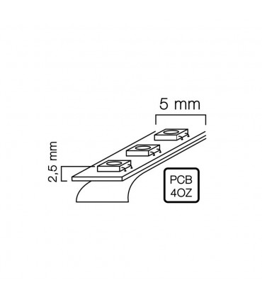 LED line® strip 600 SMD 2216 ULTRA SLIM 12V neutral white IP20.The light emitted by the diodes 2216 is characterized by