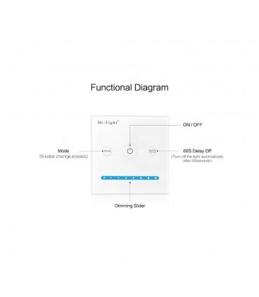 Mi-Light smart panel controller brightness P1 - features