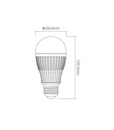 Mi-Light 9W dual white LED light bulb FUT019 - size