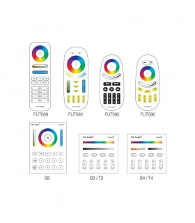Mi-Light 12W RGB+CCT LED light bulb FUT105 - compatible remote controllers