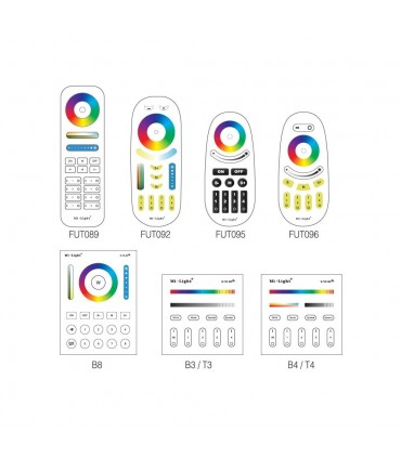 Mi-Light 12W RGB+CCT LED light bulb FUT105 - compatible remote controllers