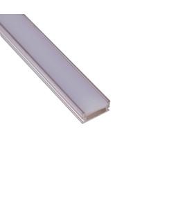 ALU-LED anodised aluminium LED profile P5 silver for bathroom with milky diffuser