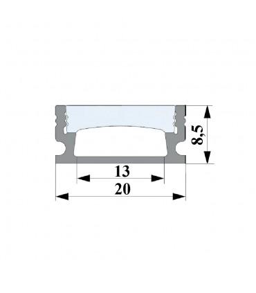 ALU-LED anodised aluminium LED profile P5 silver waterproof channel size