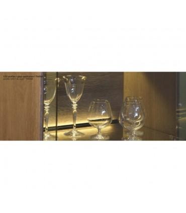 TOPMET raw aluminium glass LED profile TWIN8 silver LED strip lighting shop display application