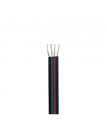 100m reel RGB 4-core 0.35mm² LED strip light cable close up