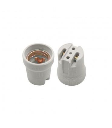 POLMARK E27 ceramic bulb holder white - both sides