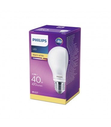 Philips E27 LED glass bulb CLASSIC 4,5W warm white - the packaging