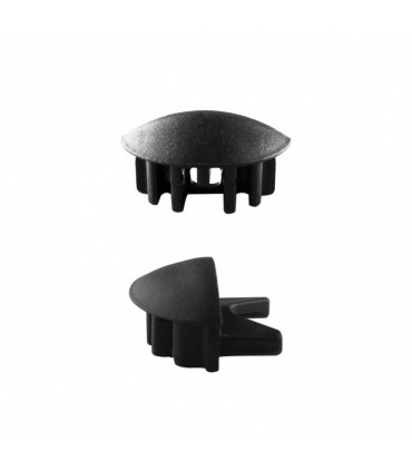 ALU-LED aluminium profile P1 end caps - black
