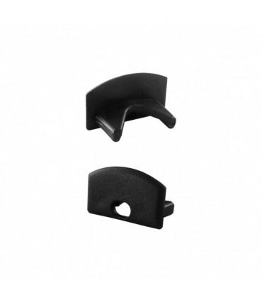 ALU-LED aluminium profile P2 end caps - black