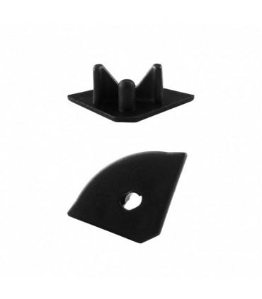ALU-LED aluminium profile P3 end caps - black