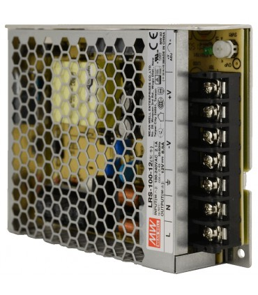 Mean Well LRS-100-12 enclosed power supply unit 12V 100W 8.5A - terminals