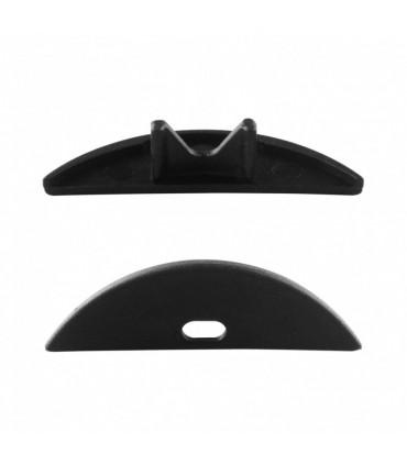 ALU-LED aluminium profile P4 end caps - black