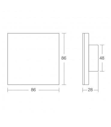 Mi-Light 1-channel 0~10V panel dimmer L1 - size