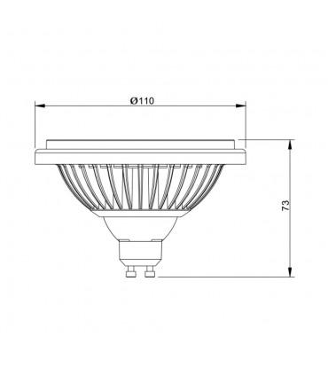 MAX-LED ES111 LED light bulb SMD 14W neutral white - size