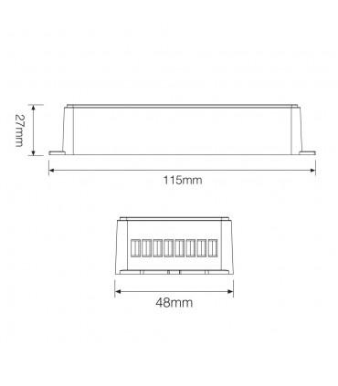 Mi-Light 5-channel high-performance amplifier PA5 - size