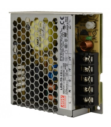 Mean Well LRS-75-12 enclosed power supply unit 12V 75W 6A - terminals