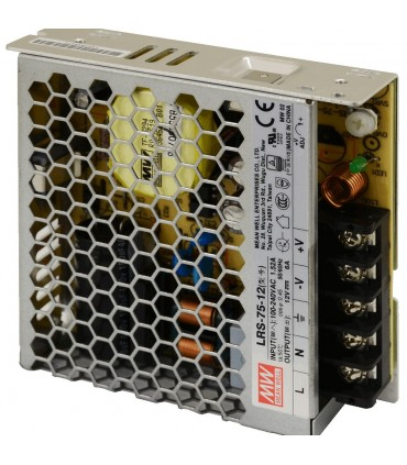Mean Well LRS-75-12 enclosed power supply unit 12V 75W 6A - side