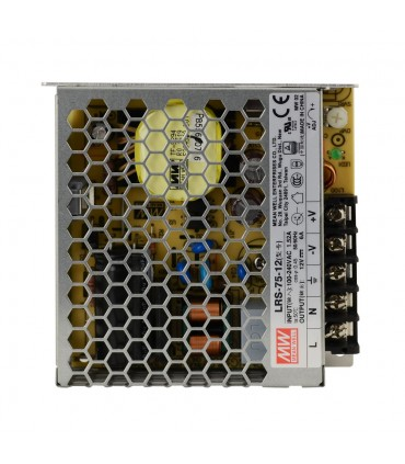 Mean Well LRS-75-12 enclosed power supply unit 12V 75W 6A - top