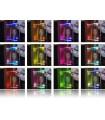 Design Light custom set LED PVC RGB clips for glass shelving