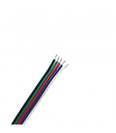 RGBW 5-core 0.35mm² LED strip light cable -  sample