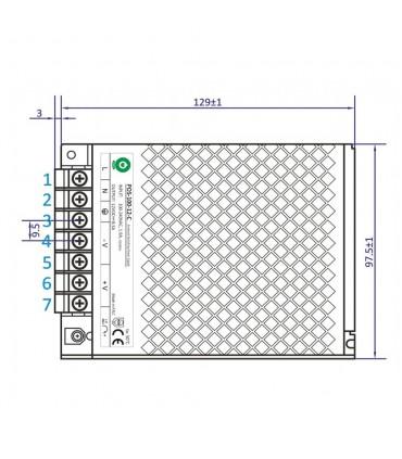 POS modular power supply POS-100-12 100W 8.3A - size