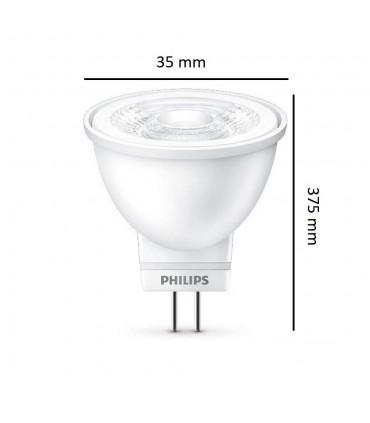 Philips MR11 LED spotlight 36° 12V 2,6W warm white - bulb size
