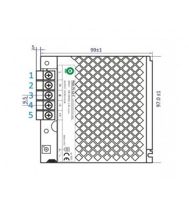 POS modular power supply POS-75-12-C 72W 6A - size 1